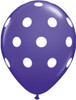 "11"" Big Polka Dots Purple Violet Latex Balloons"