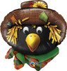 "29"" Scarecrow Patches Crow Mylar Foil Balloon"