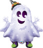 "36"" Sneakers Ghost Halloween Shape Mylar Foil Balloon"