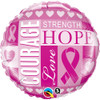 "18"" Breast Cancer Inspirations Mylar Foil Balloon"