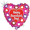 "18"" Sweetest Day Pretty Pink Mylar Foil Balloon"