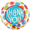 "18"" Thank You Patterned Dots Mylar Foil Balloon"
