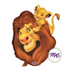 "22"" Simba & Mufasa Lion King Mylar Foil Balloon"