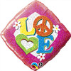 "18"" Love Peace SIgn   Mylar Foil Balloon"