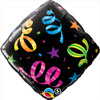 "18"" Streamers Accent   Mylar Foil Balloon"