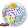 """22"""" Mother's Day Curly Hearts Bubble Balloon"""