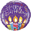"18"" Birthday Party Candles   Mylar Foil Balloon"
