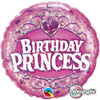 "18"" Birthday Princess    Mylar Foil Balloon"