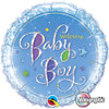 "18"" Welcome Baby Boy Stars   Mylar Foil Balloon"