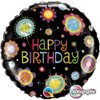 "18"" Birthday Funky  Dots   Mylar Foil Balloon"
