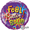"18"" Feel Better Soon Starbursts   Mylar Foil Balloon"