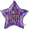 "36"" Birthday Typography Purple Jumbo   Mylar Foil Balloon"