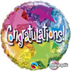 "18"" Congratulations Star Patterns   Mylar Foil Balloon"