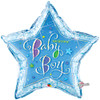 "36"" Welcome Baby Boy Stars Jumbo   Mylar Foil Balloon"