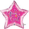 "36"" Welcome Baby Girl Stars Jumbo   Mylar Foil Balloon"