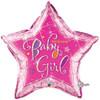 "36"" Welcome Baby Girl Stars Jumbo   Mylar Foil Balloon"