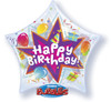 "22"" Birthday Party Blast Star Bubble Balloon"