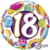"18"" 18 Birthday Big Dots & Glitz   Mylar Foil Balloon"