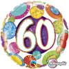 """18"""" 60 Birthday Big Dots & Glitz   Mylar Foil Balloon"""