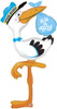 "60"" Special Delivery Stork Boy Shape Mylar Foil Balloon"