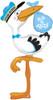 "60"" Special Delivery Stork Boy Shape Mylar Foil Balloon"