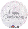 "18"" Happy Anniversary Swirls   Mylar Foil Balloon"