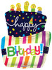"36"" Birthday Funky Cake Shape Mylar Foil Balloon"
