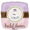 """18"""" Bridal Shower Whimsical Cake   Mylar Foil Balloon"""