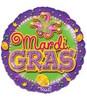 "18"" Mardi Gras Party Mylar Foil Balloon"
