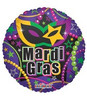 "18"" Mardi Gras Necklaces Mylar Foil Balloon"
