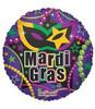 "18"" Mardi Gras Necklaces Mylar Foil Balloon"