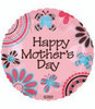 "18"" Happy Mother's Day Butterfly Galore Mylar Foil Balloon"