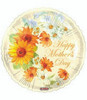 "18"" Happy Mother's Day Sun Flowers Mylar Foil Balloon"