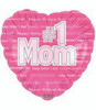 "18"" Happy Mother's Day #1 Mom Mylar Foil Balloon"