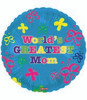 "18"" World's Greatest Mom Butterfly Mylar Foil Balloon"