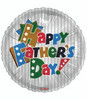 "18"" Happy Father's Day Colors Mylar Foil Balloon"