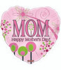 "18"" Happy Mother's Day Swirly Flowers Mylar Foil Balloon"