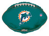 "18"" NFL Miami Dolphins Football Mylar Foil Balloon."