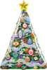 "39"" Christmas Tree Shape Mylar Foil Balloon"