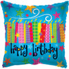 "18"" Birthday Blow Candles   Mylar Foil Balloon"