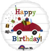 "18"" Birthday Car & Presents   Mylar Foil Balloon"