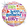 "18"" Gift Wrap Birthday   Mylar Foil Balloon"