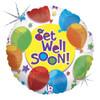 "18"" Get Well  & Stars   Mylar Foil Balloon"
