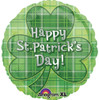 "18"" St. Patrick's Day Plaid   Mylar Foil Balloon"