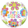 "18"" Easter Colorful Blossoms   Mylar Foil Balloon"
