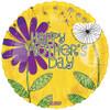 """18"""" Mother's Day Whimsical Garden   Mylar Foil Balloon"""