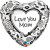 "18"" Love You Mom   Mylar Foil Balloon"