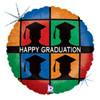 "18"" Grad Silhouettes   Mylar Foil Balloon"