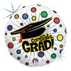 "18"" Grad Bursting Dots   Mylar Foil Balloon"