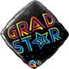 "18"" Grad Star Diamond   Mylar Foil Balloon"